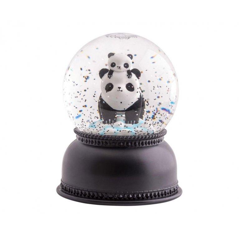 Bola de nieve con luz panda - A little lovely company