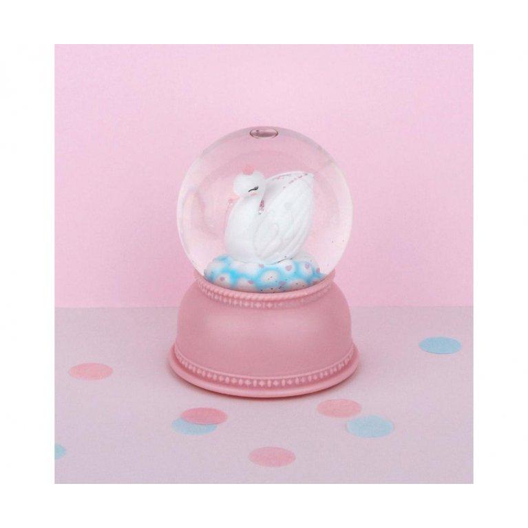 Bola de nieve con luz swan - A little lovely company