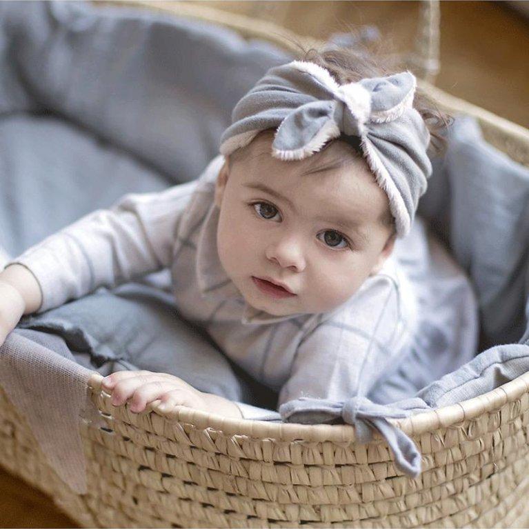 Capazo Vestido Grey Powder - Babyshower