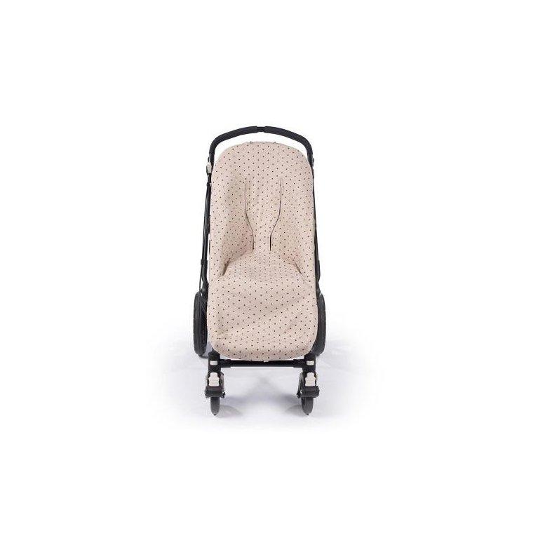 Saco para silla de paseo color piedra con estrellitas negras- Walking Mum