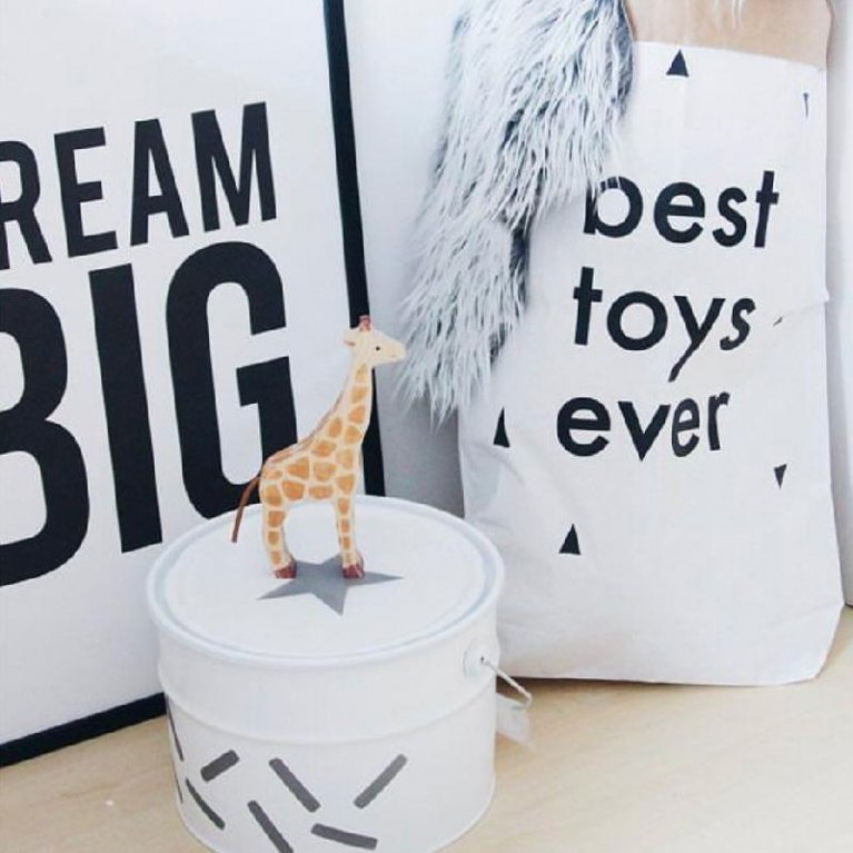 Cubo para guardar juguetes Confeti - Destino Isla