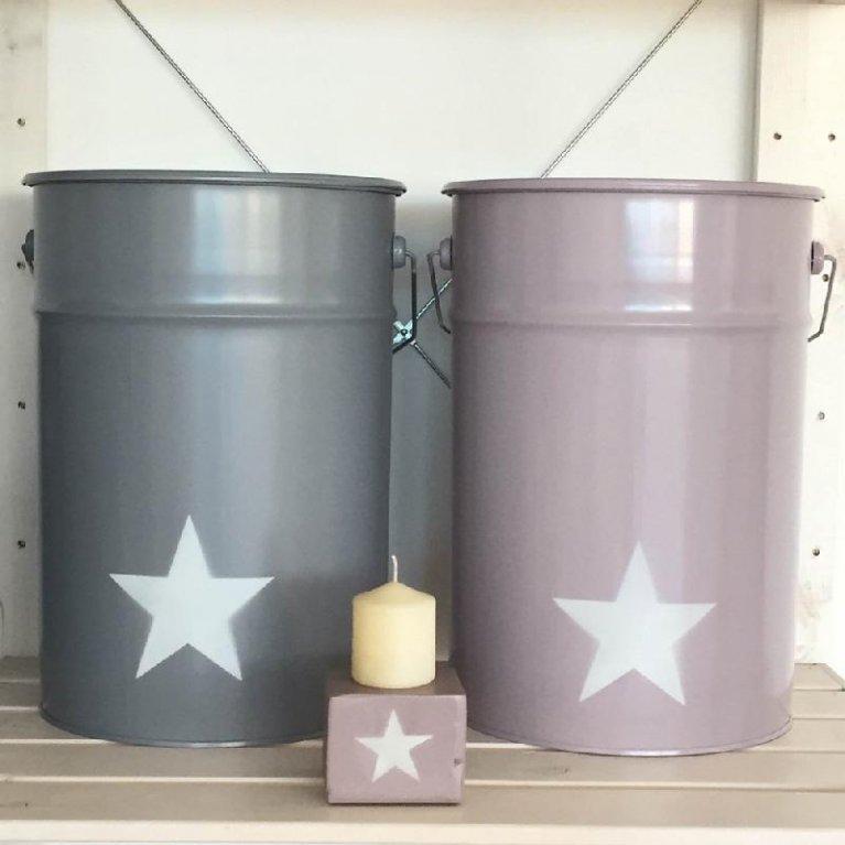 Cubo grande para guardar juguetes Estrella - Destino Isla