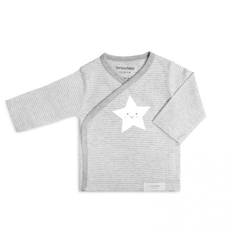 Camiseta Estrella Gris - Bonjourbebé
