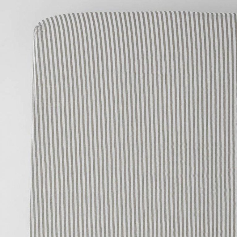 Sábana bajera para cuna Grey Stripe