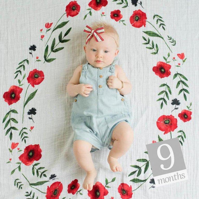 Muselina Foto Summer Poppy - Little Unicorn