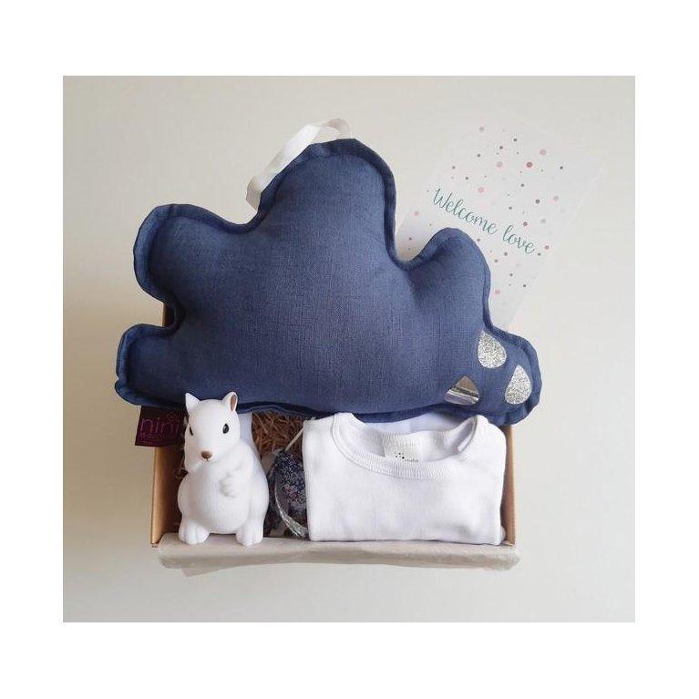"""Cesta Regalo bebé azul """"Dulces Sueños"""""""