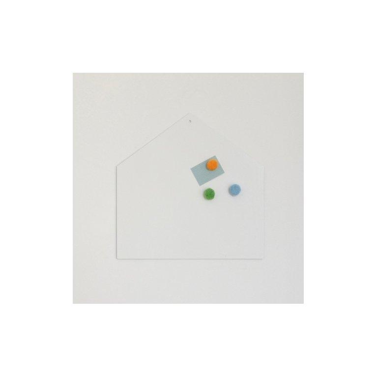 pizarra magnética en forma de casa blanca