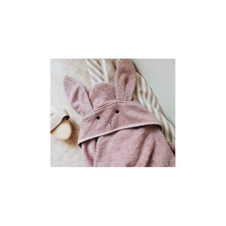 """Toalla de baño bebé orgánica """"Conejito rosa"""" - Liewood"""