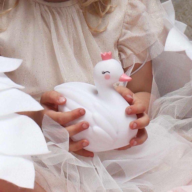 Luz de noche bebé Cisne Blanco - A Little Lovely Company