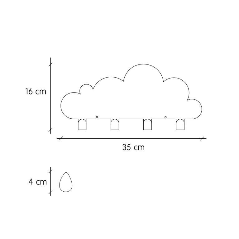 nube colgador de Tresxics