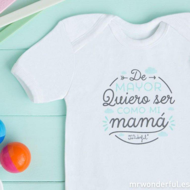 """Body bebé """"Como mi mamá"""" de Mr. Wonderful"""
