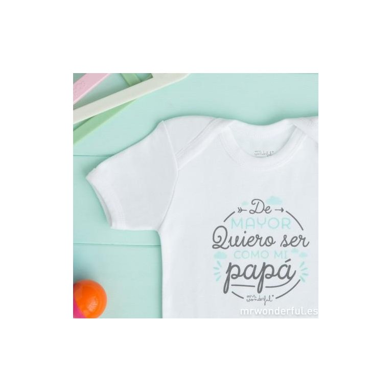 "Body bebé ""Como mi papá"" de Mr. Wonderful"