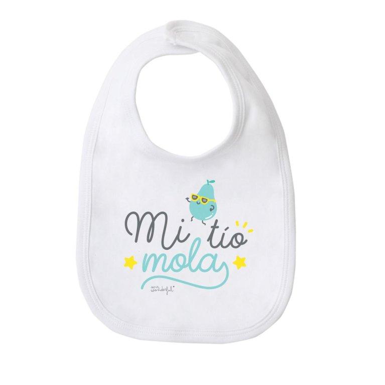 """Babero para bebés """"Mi tío mola"""" - Mr Wonderful"""