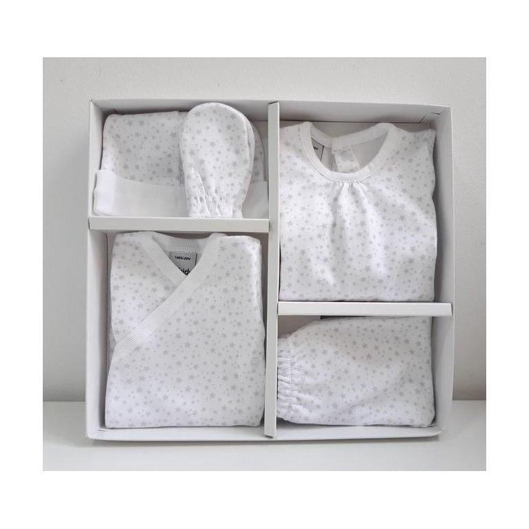 Pack nacimiento primera puesta Estrellitas gris - Babidú