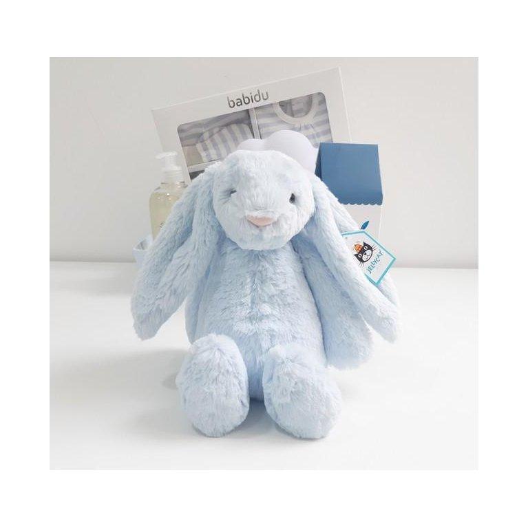 Canastilla de bebé Mil Rayas - Azul