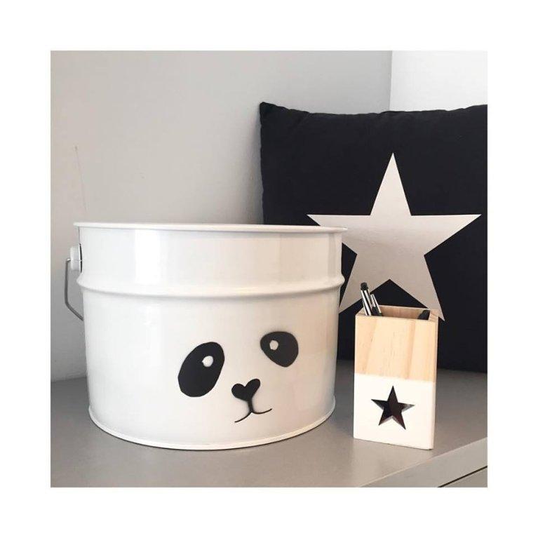 Cubo para guardar cosas - Diseño Panda