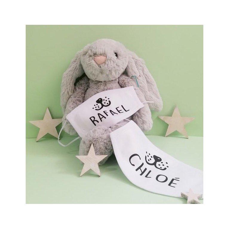 Mascarilla para niños personalizada con nombre
