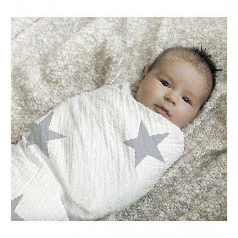 Muselina grande Estrellas grises Aden by Aden & Anais