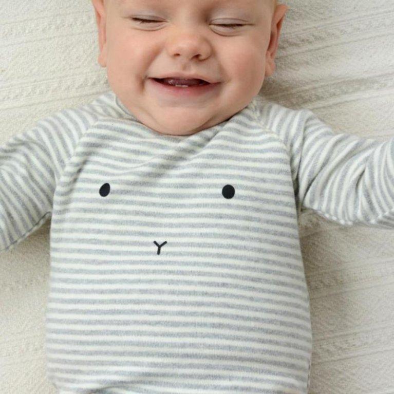 Pijama orgánico gris Bunny