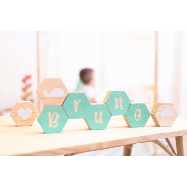Cubos hexagonales personalizados