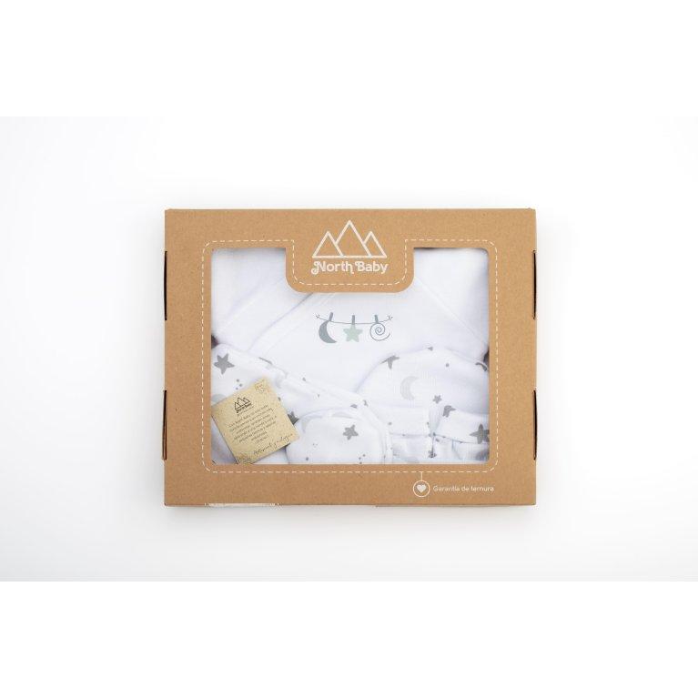 Caja primera puesta bebé Luna y estrellas - Northbaby