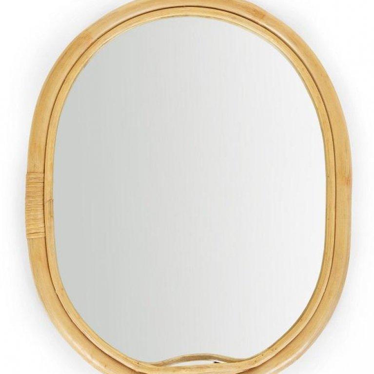 Espejo ovalado de ratán - Childhome