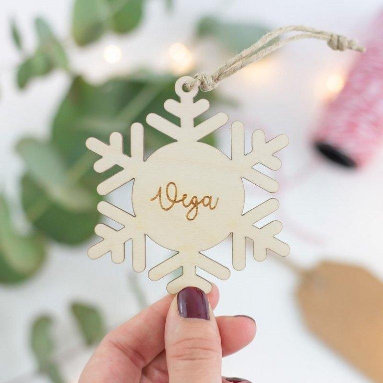 """Bola de Navidad Personalizada """"Copito de Nieve"""""""