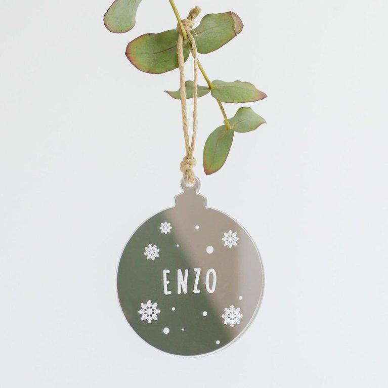 """Bola de Navidad Personalizada """"Espejo"""""""