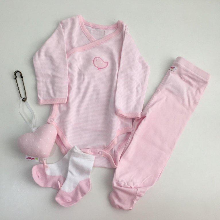 Cesta Regalo bebé New Born Rosa