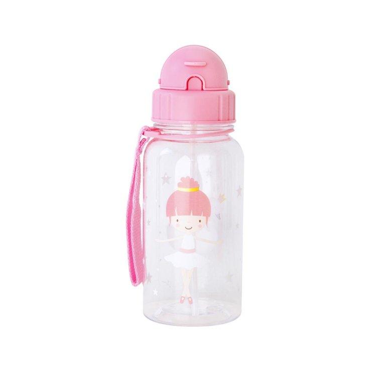 Botella con pajita