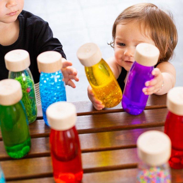 Botellas sensoriales para bebé Float Bottle - Petit Boum