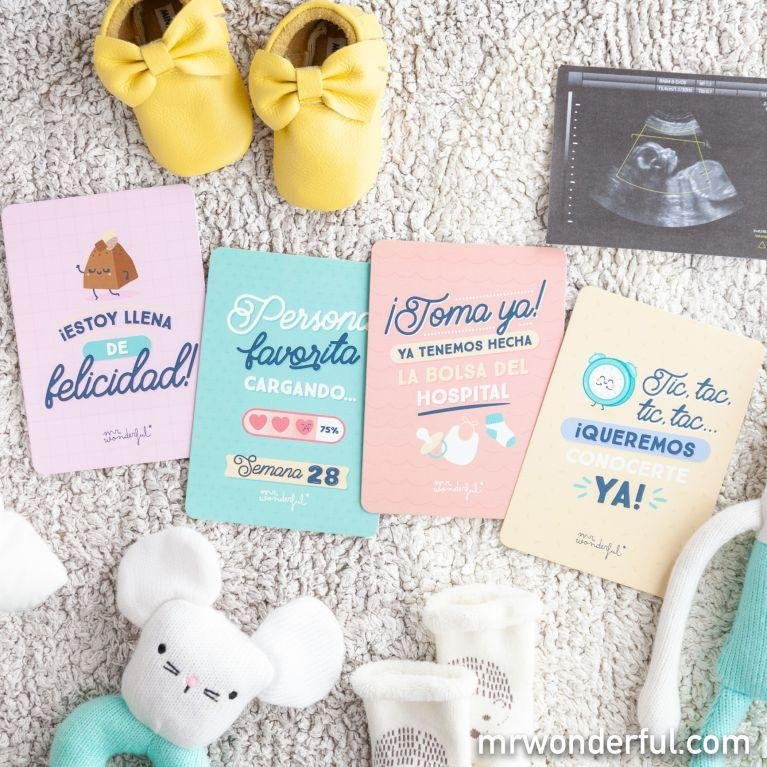 Tarjetas de embarazo - Mr Wonderful