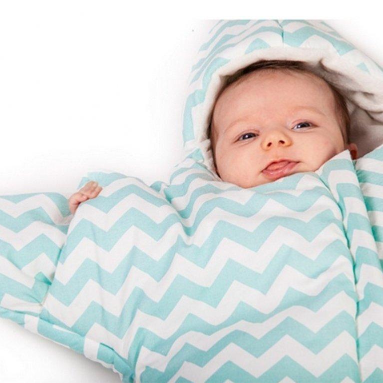 Saco de dormir para bebé Baby Bites Estrella Chevron Azul