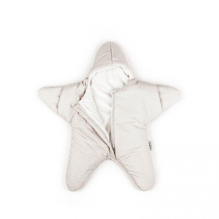 Saco de dormir para bebé Baby Bites Estrella Chevron Beige