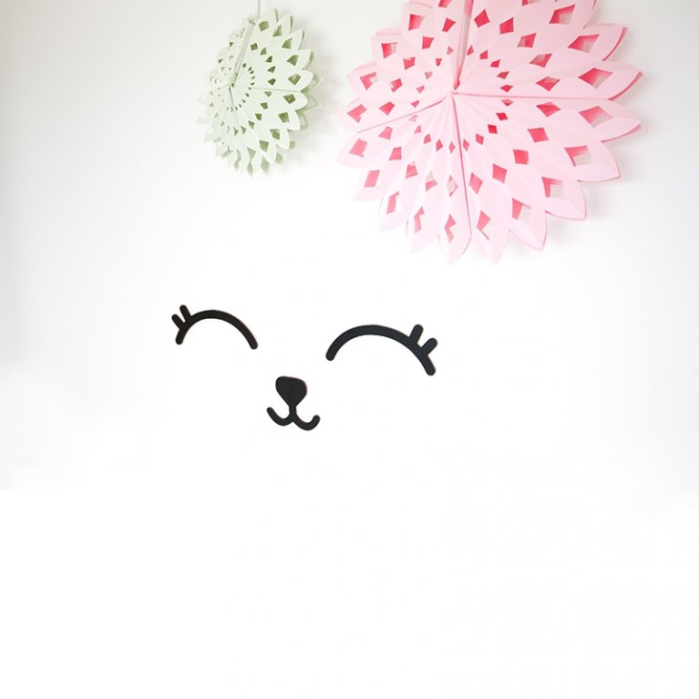 Decoración de pared infantil Smiley en madera