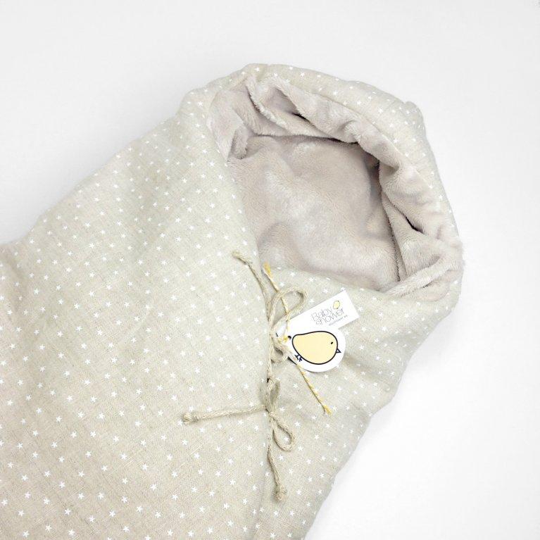 Saco de invierno para capazo 'Lino con estrellas blancas' - Babyshower