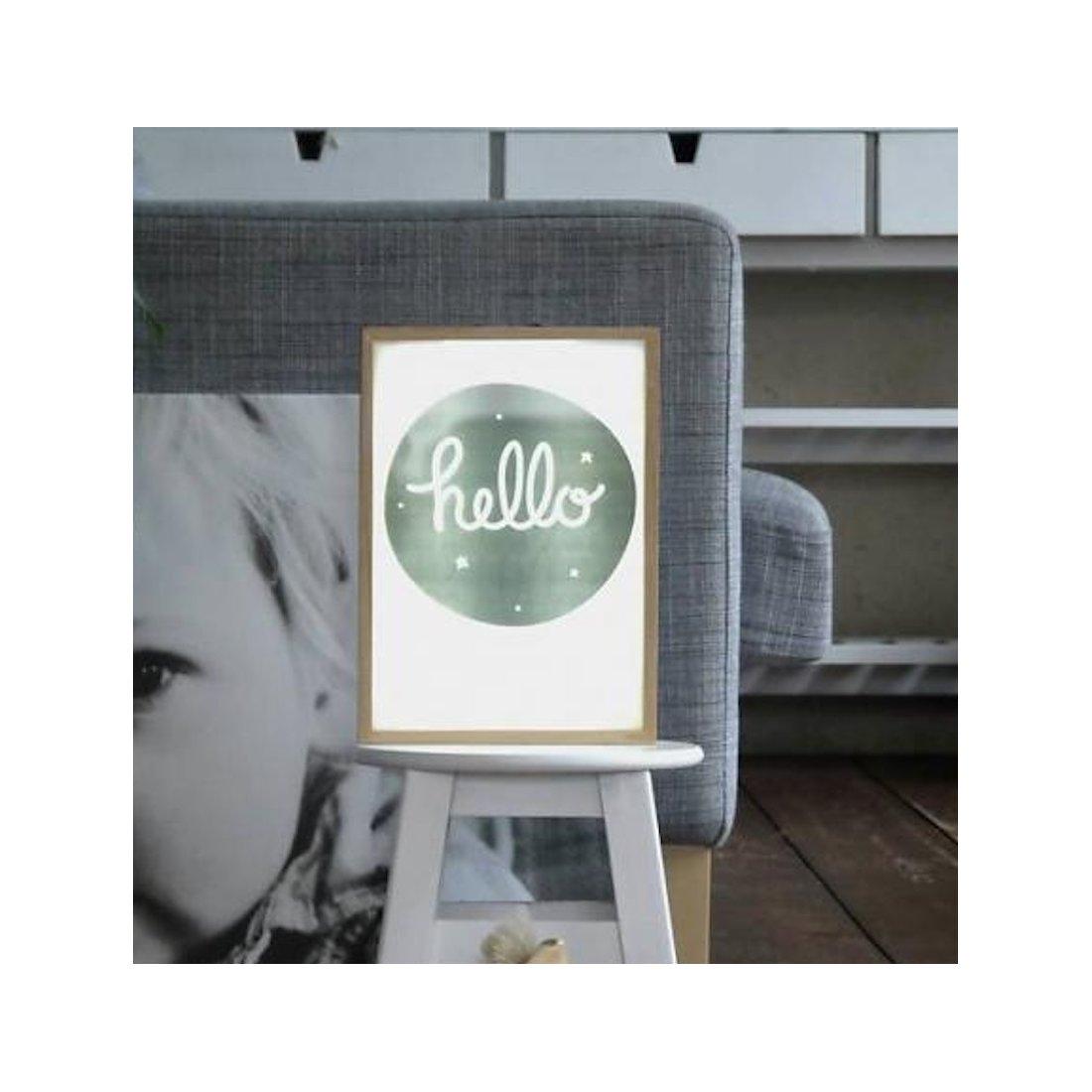 caab7f805 Póster 'Hello' para caja de luz - A little lovely company - TuBebebox