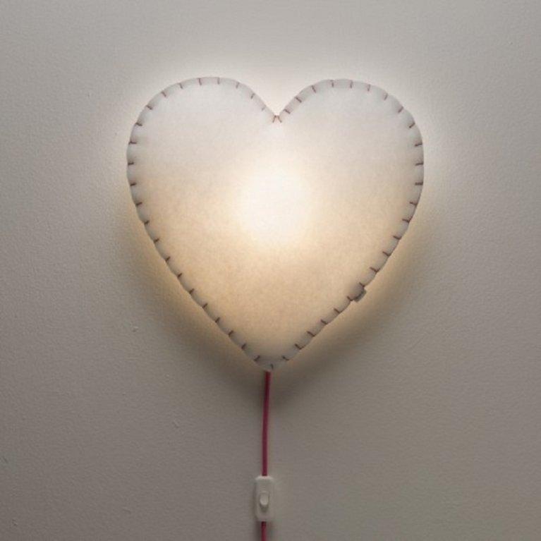 Lámpara de pared 'corazón' - Buokids