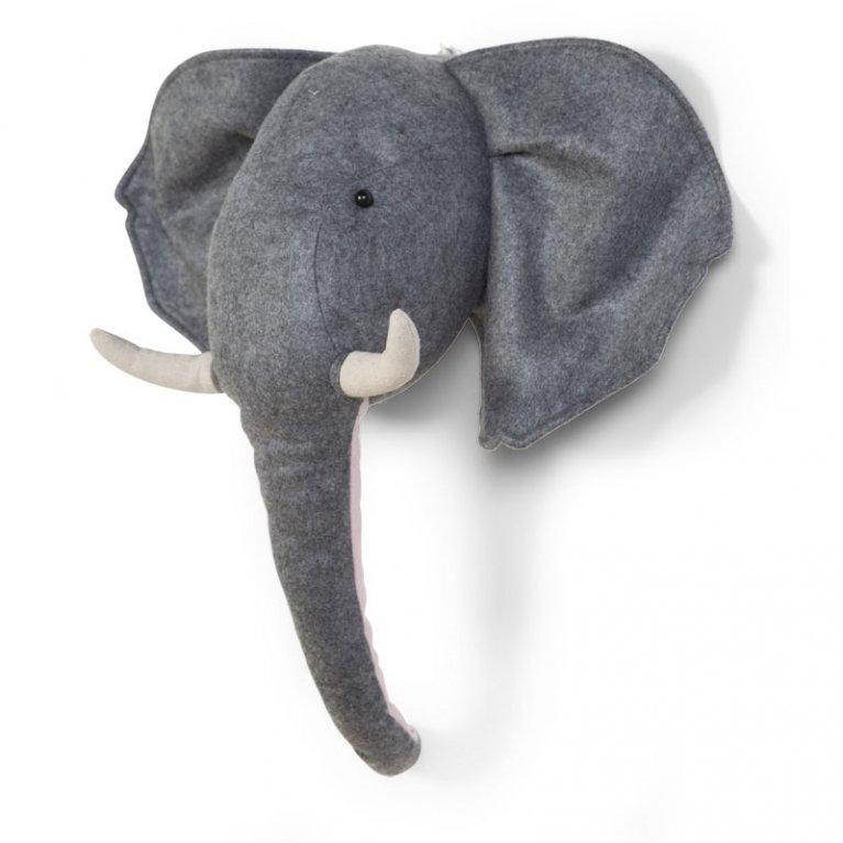 Cabeza peluche Elefante para pared - Childhome