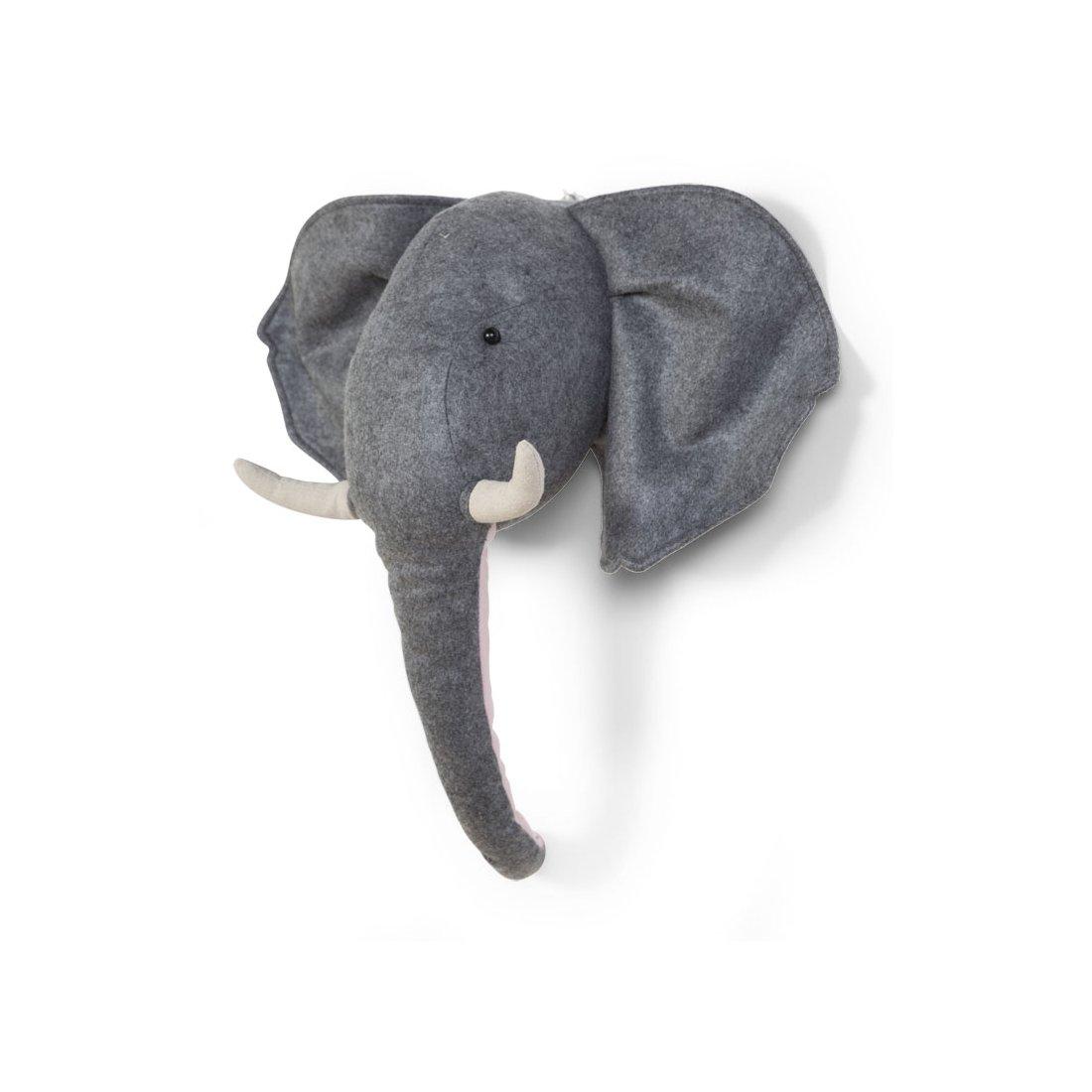 Cabeza peluche Elefante para la pared de Childhome - Tu Bebebox
