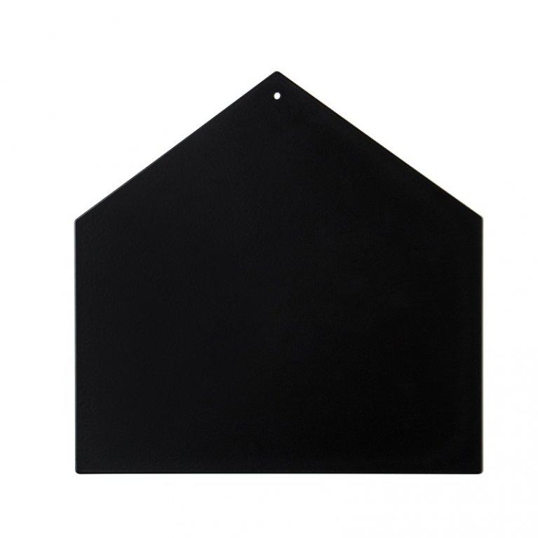 pizarra magnética en forma de casa negra