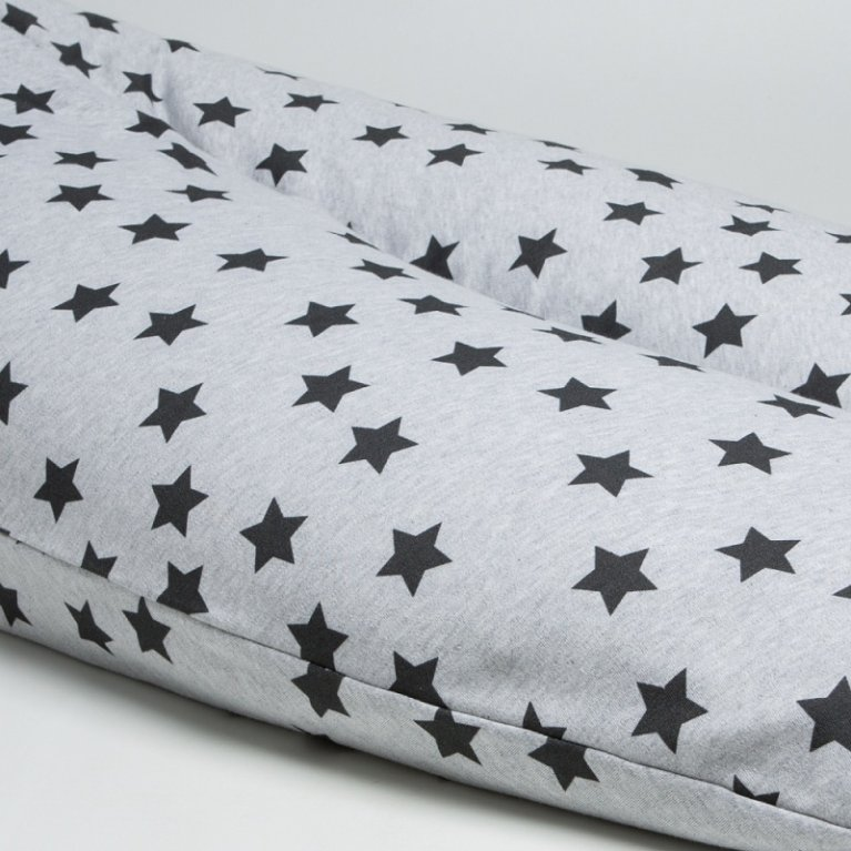 Cojín de lactancia XL estrellas grandes - Bonjourbebé