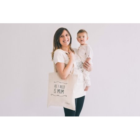 "Bolsa ""All I need is Mum"" de Maminébaba"