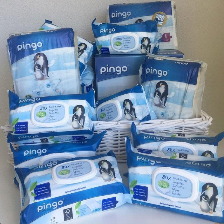 Pack de pañales y toallitas ecológicos para bebés - Pingo