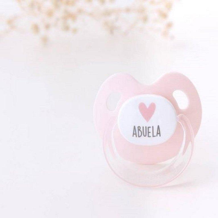 Chupete látex 'Love Abuela' rosa