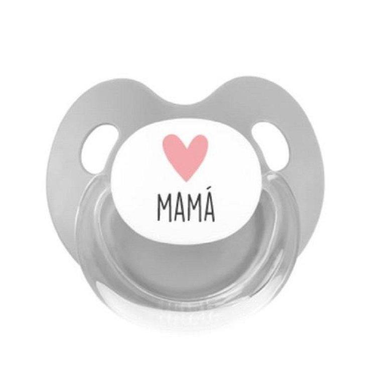 Chupete silicona 'Love Mamá' rosa