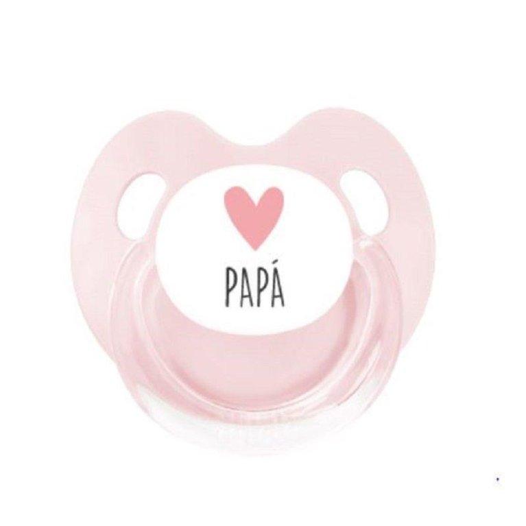 Chupete látex 'Love Papá' gris