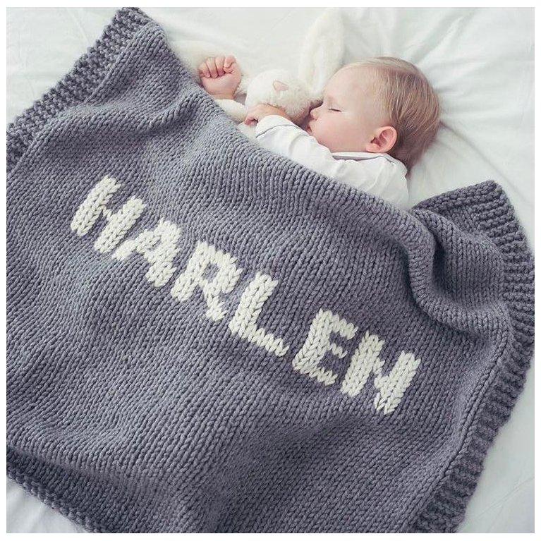 Mantitas de lana personalizadas de Loving Yarn