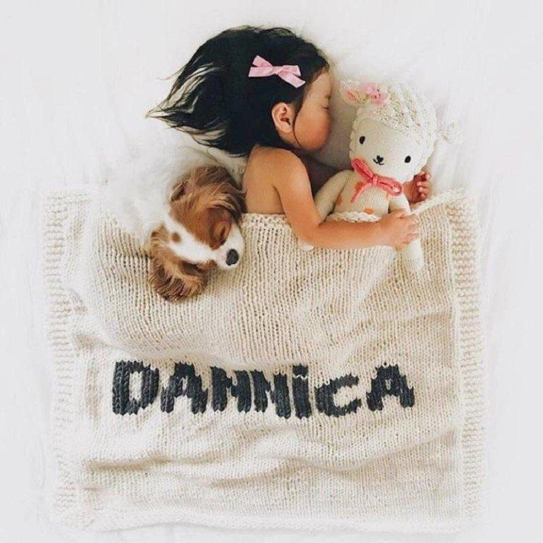 Mantitas de lana para bebé personalizadas