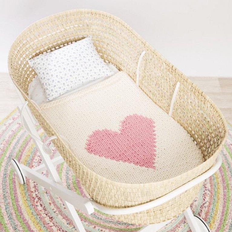 Mantita de corazón de Loving Yarn